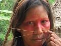 I Matses si decorano il volto per rassomigliare al giaguaro