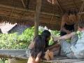 Pablo e sua moglie mi aiutano a togliere minuscoli insetti dalla mia pelle.