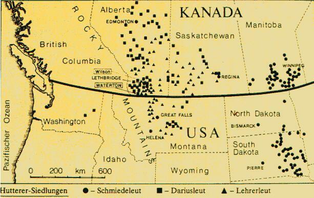 distribuzione hutteriti in canada