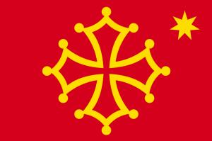"""questione provenzale occitania - Bandiera """"politica"""" dell'Occitania"""