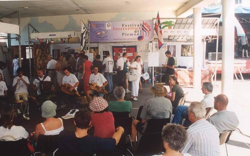 Stand piemontese al Festival di Lorient 2003