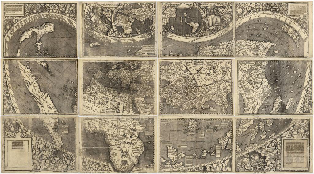 Planisfero palioforme 1507 Waldseemüller
