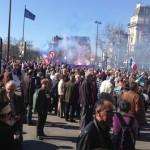 Una manifestazione dei conservatori nelle strade di Parigi