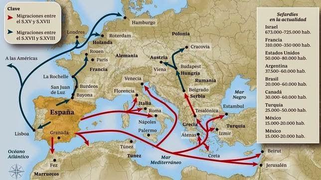 Risultati immagini per cacciata ebrei spagna 1492