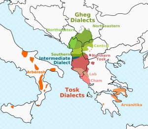 parlate albanesi