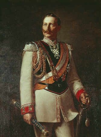 Guglielmo II, imperatore di Germania (1888-1918).