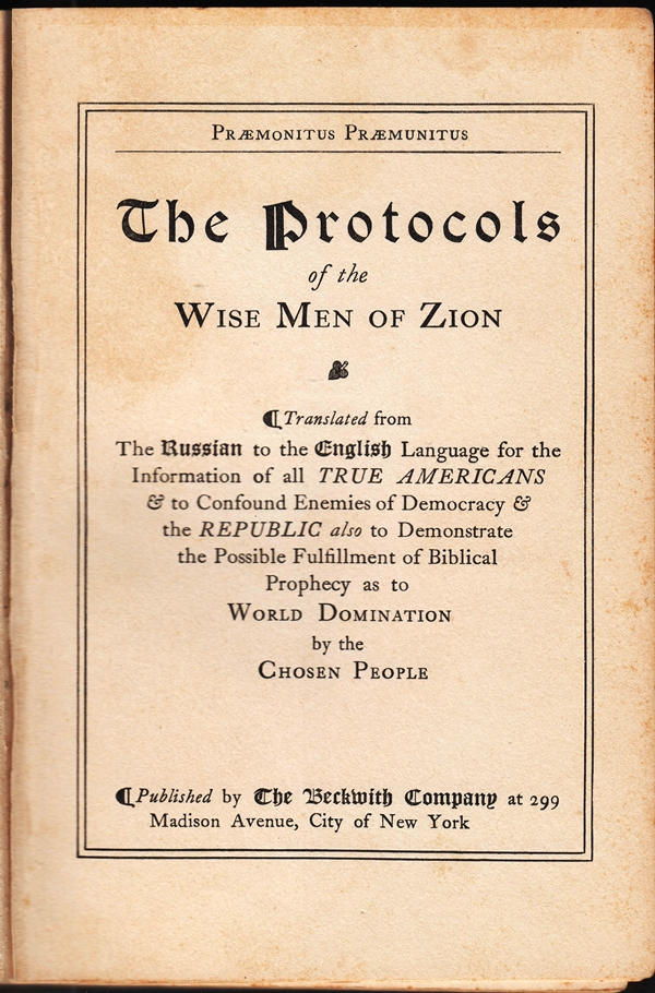 613350b89ad5 I Protocolli dei Savi di Sion  un falso storico - Etnie