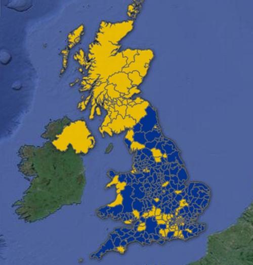 brexit scozia mappa-brexit