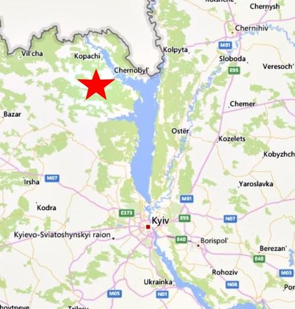 chernobyl oggi 2016 - mappaChernobyl