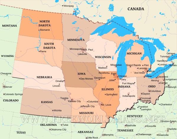 elezioni usa stato per stato - midwest