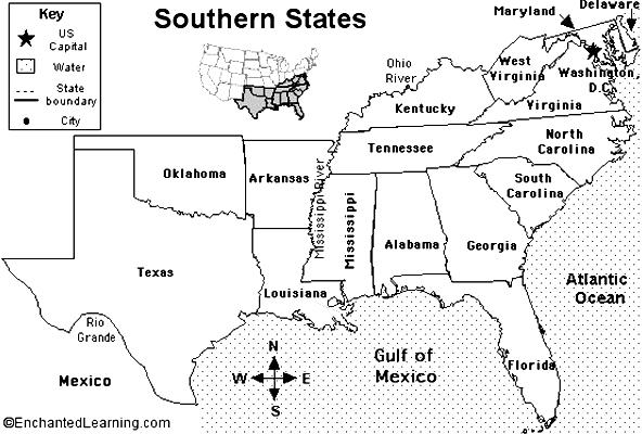 elezioni usa stato per stato - south-crop