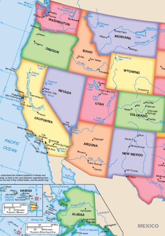 elezioni usa stato per stato - west