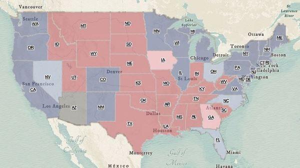 presidenziali usa 2016 mappa