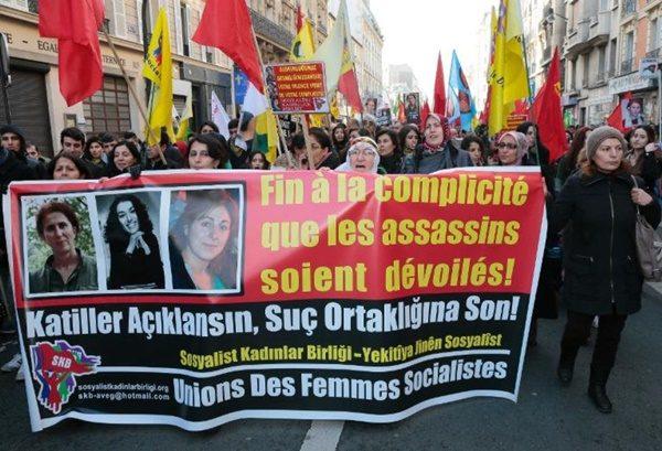 processo sakine fidan leyla - manif-curdi-parigi