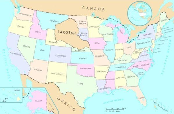 lakota standing rock - Repubblica-Lakota-mappa