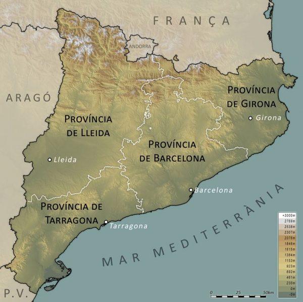 indipendentismo catalano storia - Catalunya-province