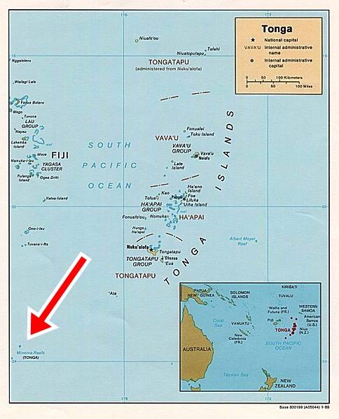 repubblica di minerva - Tonga-mappa