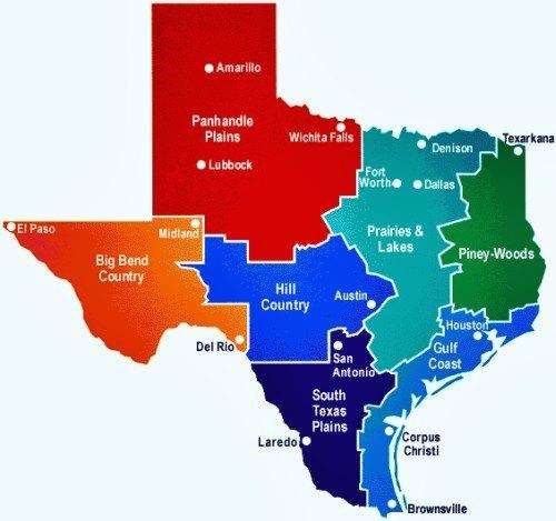 texas-regioni