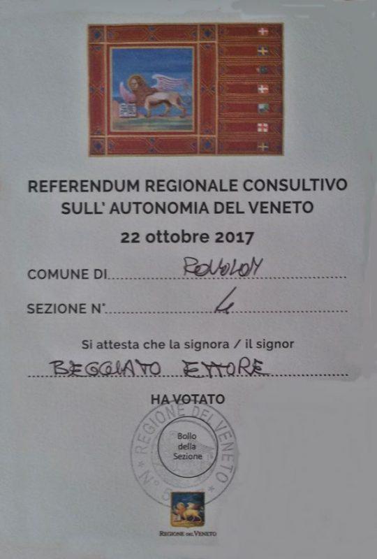 ricevuta referendum leone di san marco