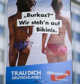 partiti antimmigrazionisti europei - burqa-bikini