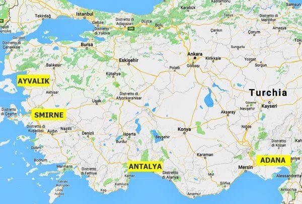 afro-turchi origini - mappa