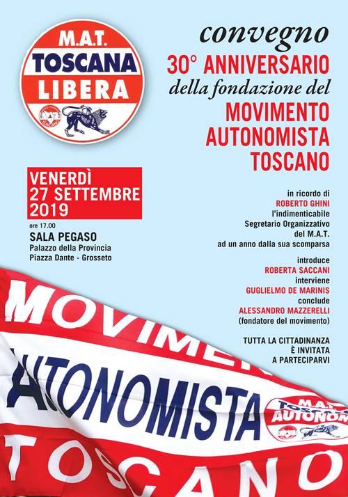 movimento autonomista toscano trentesimo annniversario