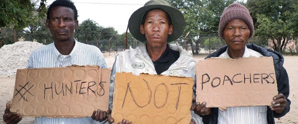 Boscimani arrestati per bracconaggio in Botswana (ma l'ecologia c'entra poco)
