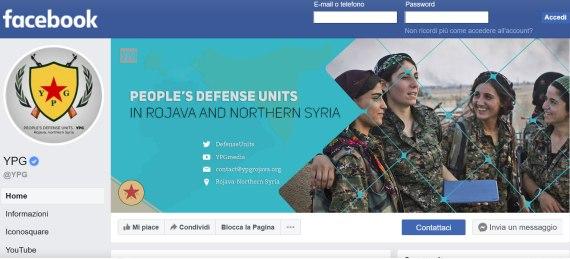 Ripristinati i canali social delle YPG