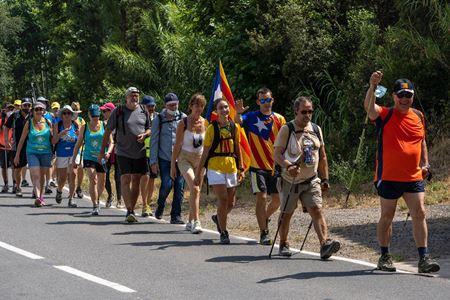 camminata per la libertà di un prigioniero politico catalano