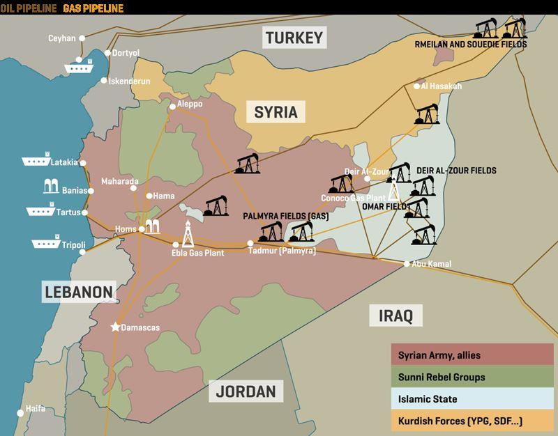 petrolio siriano ai russi